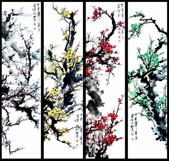 传统梅花画谱,古人是这样学画的图片